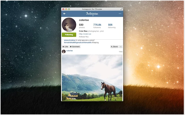 Instagram for Chrome
