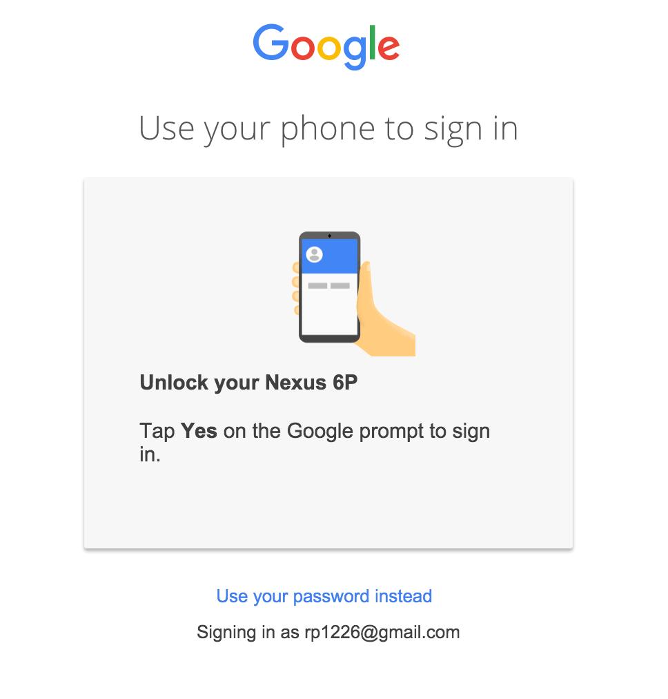 Google начал тестирование входа в аккаунт без использования пароля