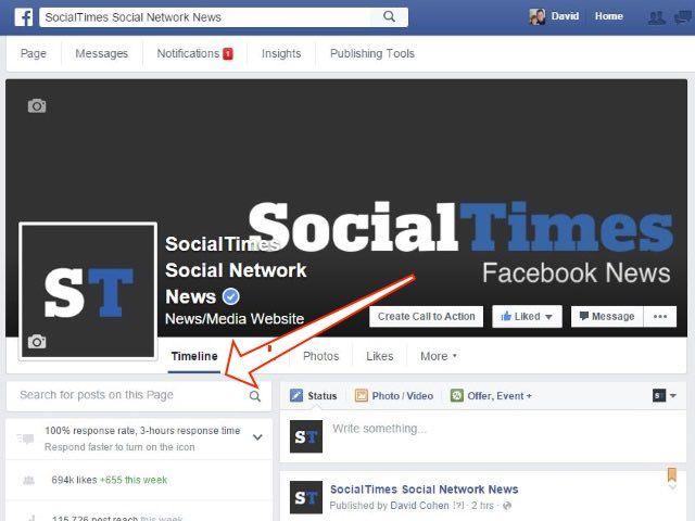 Facebook продолжает эксперименты с поиском по постам