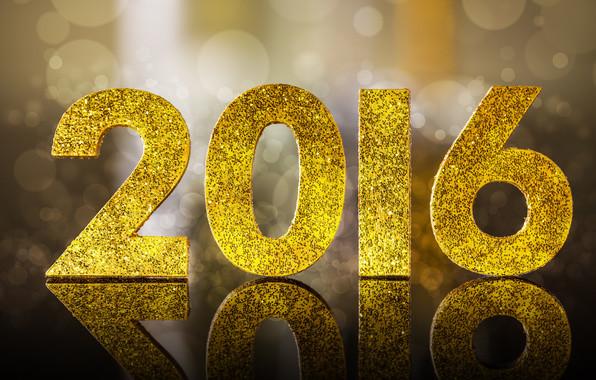 2016, happy, new year, golden, glitter, bokeh, новый год