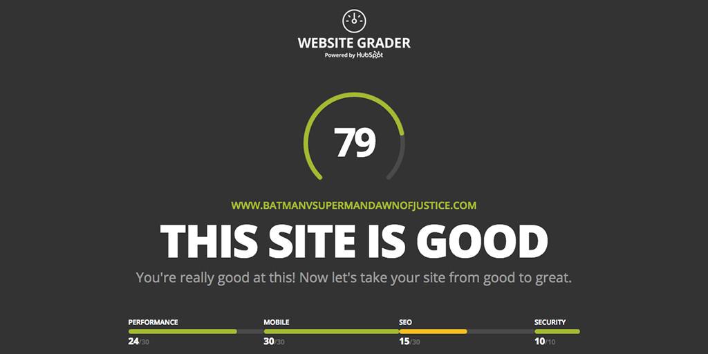 HubSpot Website Grader