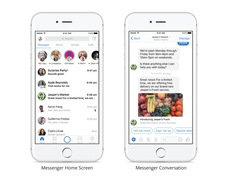 Бренды получат возможность рассылать промо-сообщения в Facebook Messenger