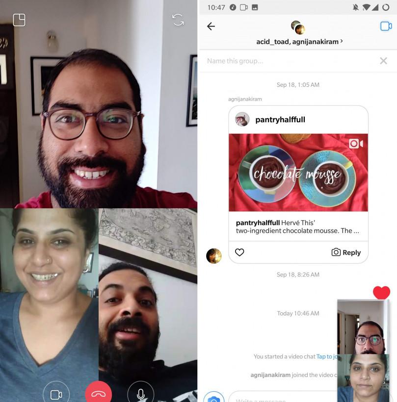 Instagram порадовал своих пользователей новой функцией – групповой видео звонок