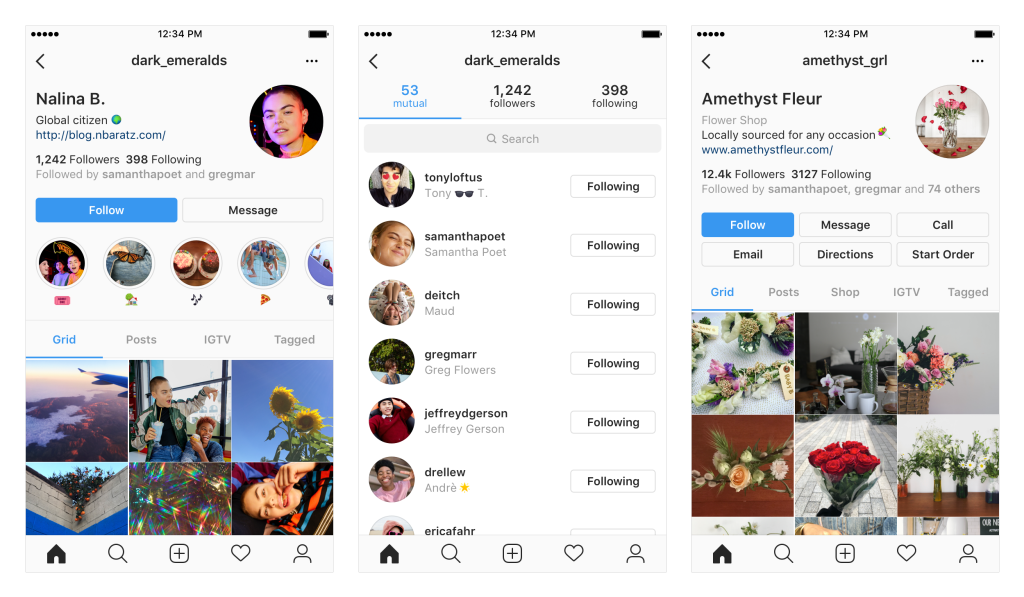 Последние обновления Instagram коснутся вида профиля