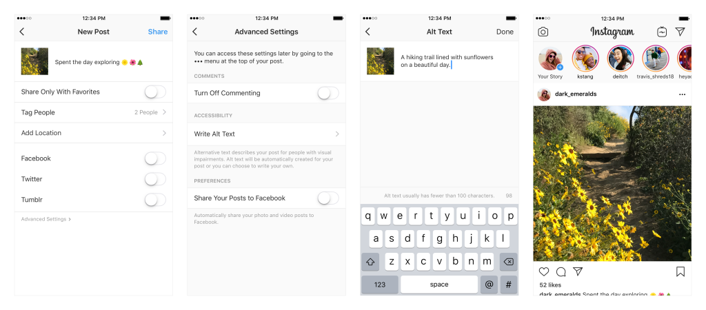 Теперь в Instagram можно добавлять Alt-текст к фото